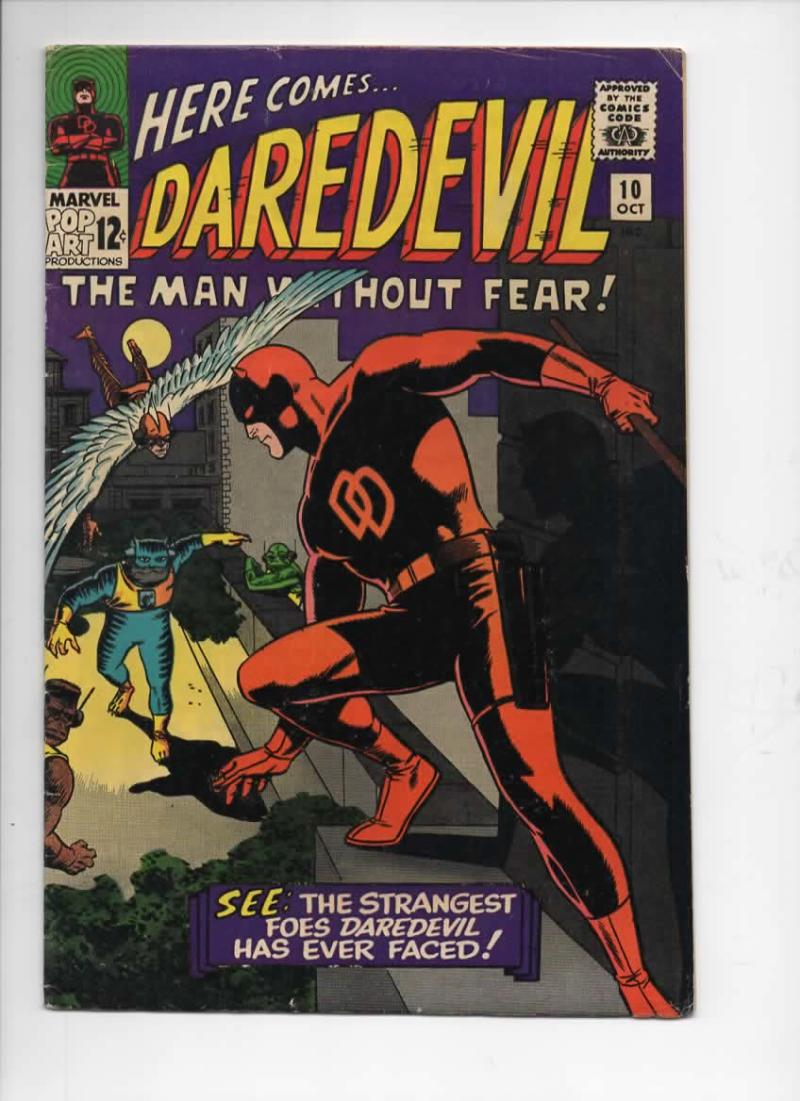 DAREDEVIL #10, VG/FN, Wally Wood, Stan Lee, Organizer, 1964, more DD in store