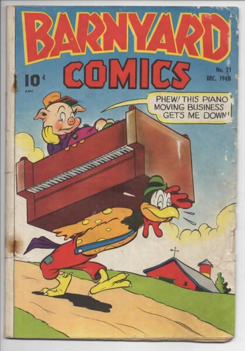 BARNYARD COMICS #21, GD+, Frank Frazetta, Pre-Code  Golden Age, 1944, more in store