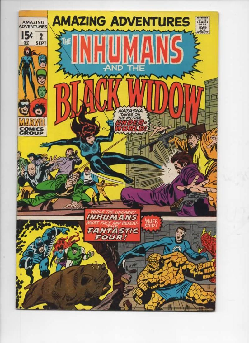 AMAZING ADVENTURES #2, FN, Inhumans, Black Widsow, Jack Kirby, 1970