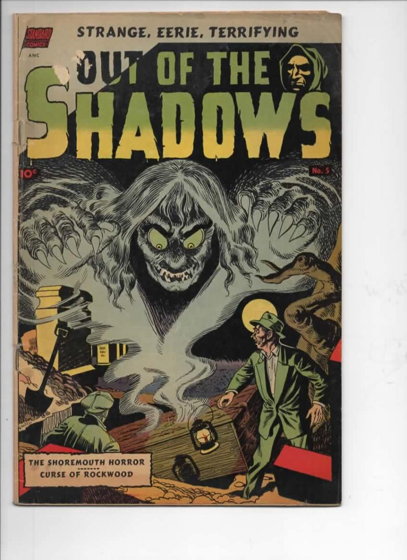 OUT of the SHADOWS #5, FN-, Toth, Tuska, 1952, Golden Age, Pre-Code Horror
