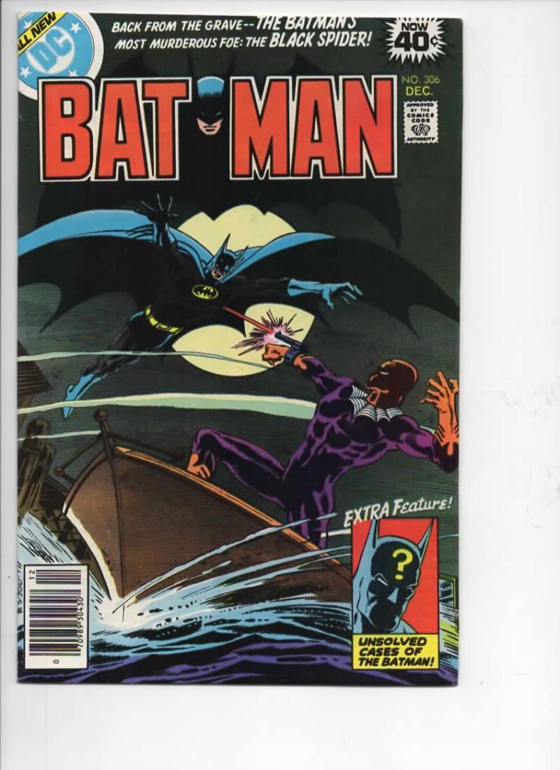 BATMAN #306, VF/NM, Black Spider, Gotham, DC, 1940 1978, more BM in store