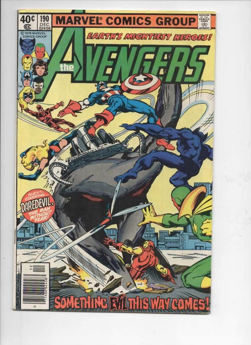 AVENGERS #190, FN,  Captain America, Beast, 1963 1979, more Marvel in store