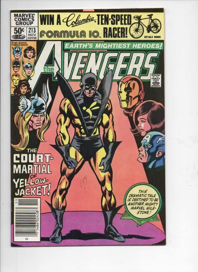 AVENGERS #213, VF/NM, Thor, Yellow Jacket, Iron Man, 1963 1981, more Marvel in store