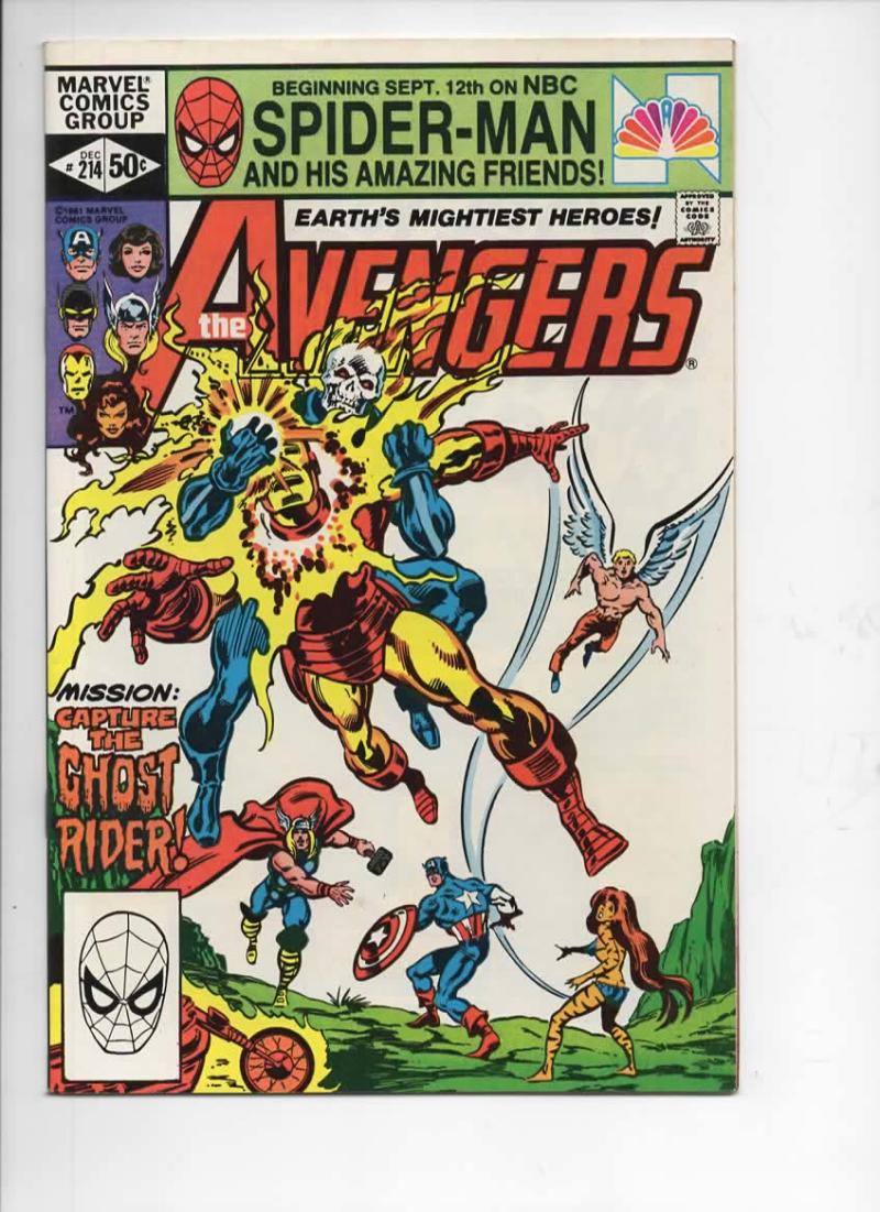AVENGERS #214, VF/NM, Thor, vs Ghost Rider, 1963 1981, more Marvel in store