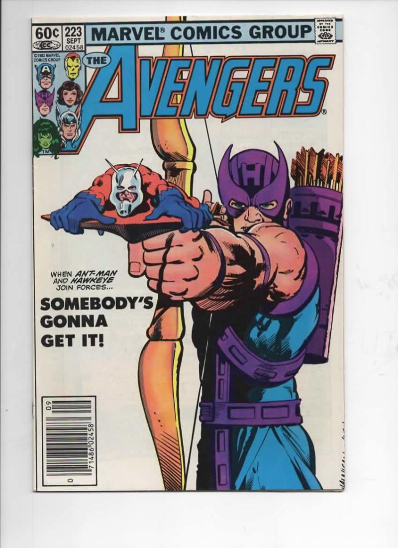 AVENGERS #223, FN, TaskMaster, Ant-man, 1963 1982, more Marvel in store