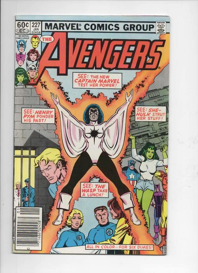 AVENGERS #227, FN/VF, Captain Marvel, Wasp, 1963 1983, Marvel, w/ Jewelers insert
