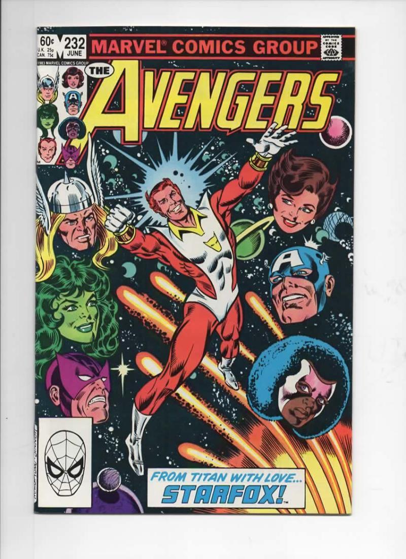 AVENGERS #232, VF+, Star Fox, Captain Marvel, 1963 1983, more Marvel in store
