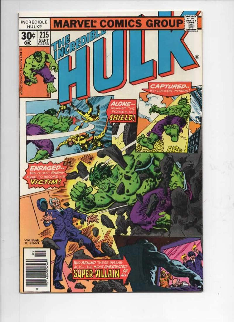 HULK #215, VF+, Incredible, Bruce Banner, Bi Beast, 1968 1977, Marvel