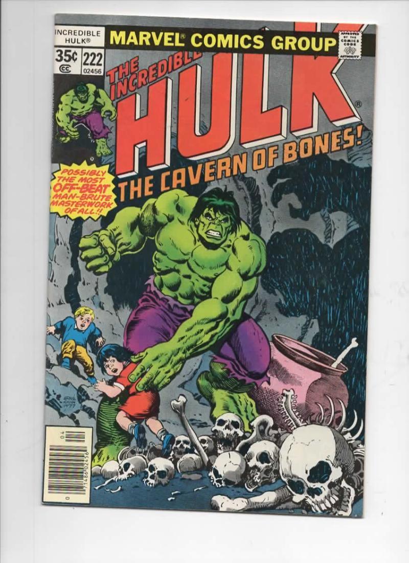 HULK #222, FN-, Incredible, Bruce Banner, Jim Starlin, 1968 1978, Marvel