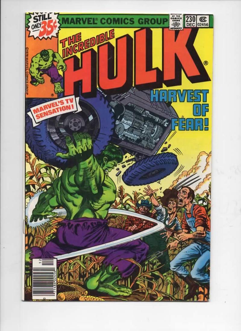 HULK #230, FN, Incredible, Bruce Banner, Harvest of Fear, 1968 1978, Marvel