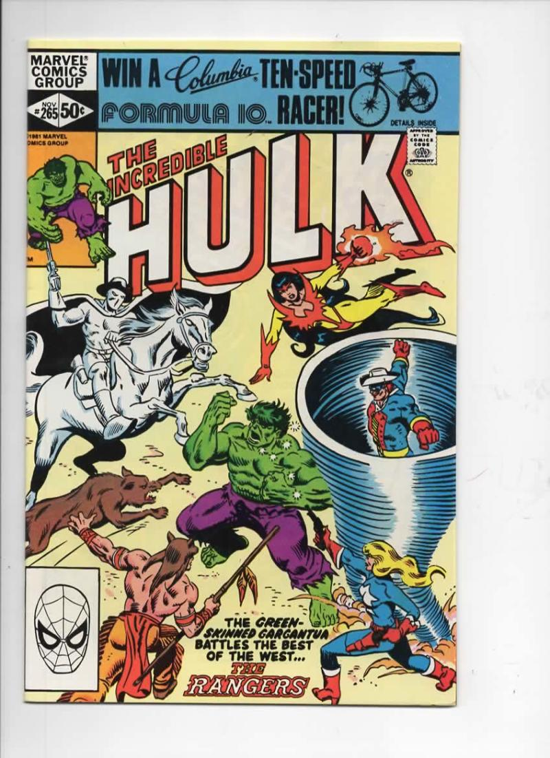 HULK #265, VF/NM, Incredible, Bruce Banner, Rangers, 1968 1981, Marvel
