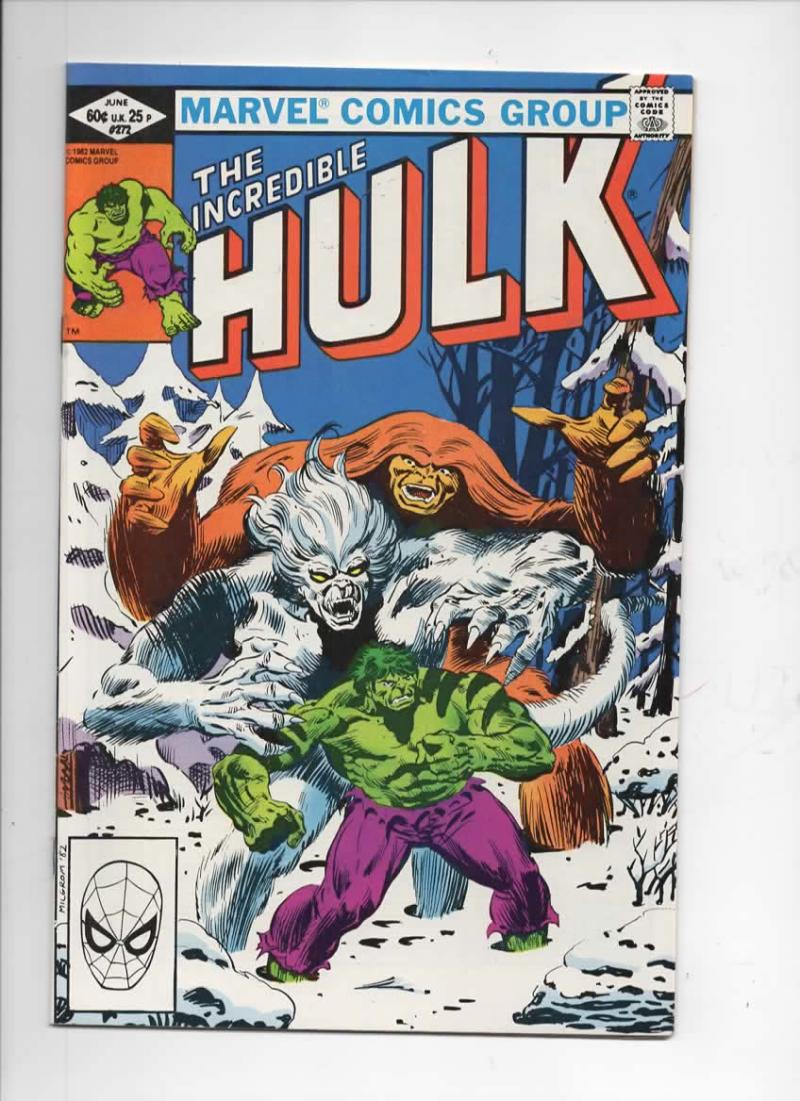 HULK #272, VF/NM, Incredible, Bruce Banner, Rocket Raccoon, 1968 1982, Marvel