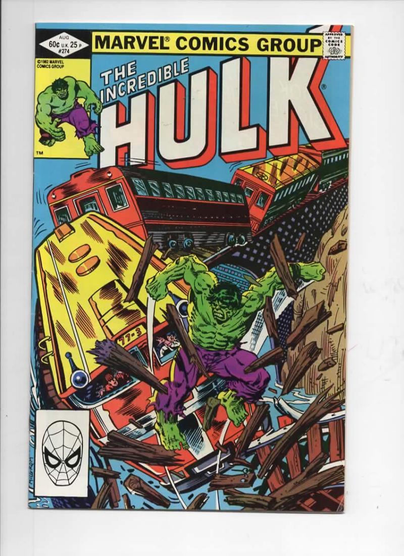 HULK #274, VF/NM, Incredible, Bruce Banner, Buscema, 1968 1982, Marvel