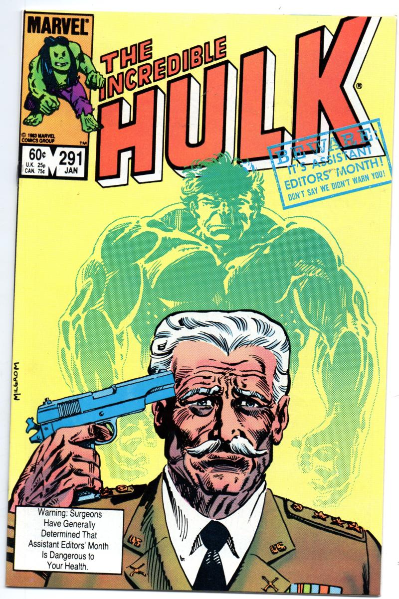 HULK #291, VF/NM, Incredible, Bruce Banner, Buscema, 1968 1984, Marvel