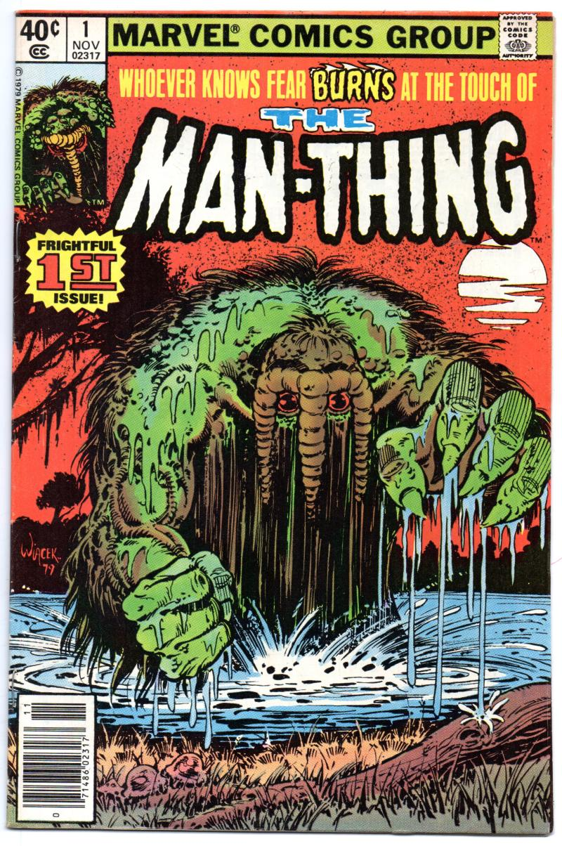 MAN-THING #1, VF, Swamp Thing, Jim Mooney, 1979, Fear, more Bronze age in store