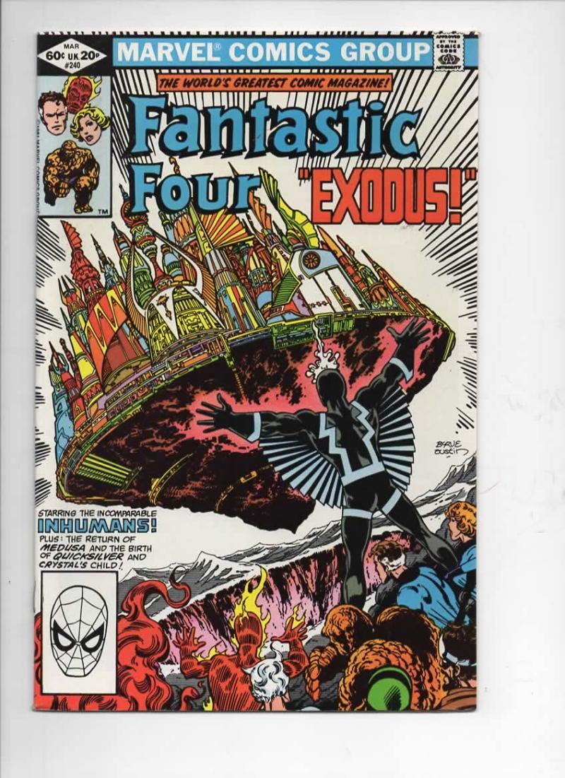 FANTASTIC FOUR #240, NM-, InHumans, Exodus, 1961 1982, Marvel, more FF in store