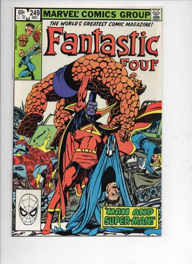 FANTASTIC FOUR #249 NM Super-Man Gladiator 1961 1982 Marvel, more FF in store