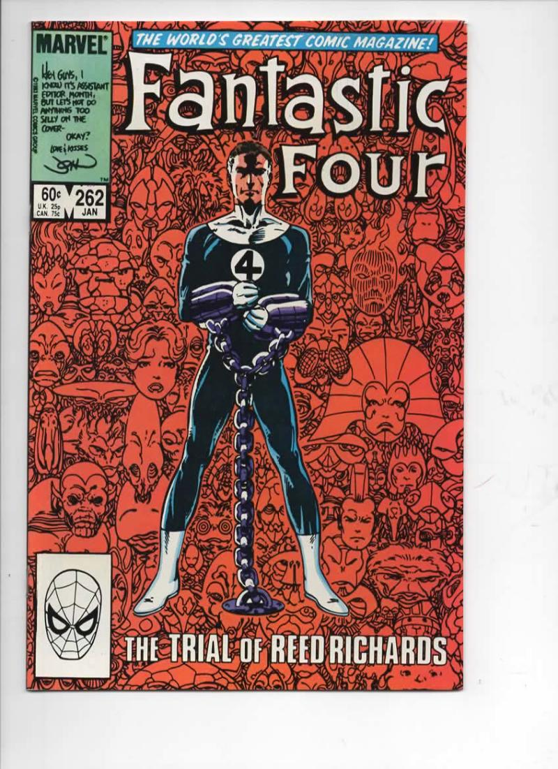 FANTASTIC FOUR #262 VF/NM Trial Reed Richards 1961 1984 Marvel, more FF in store