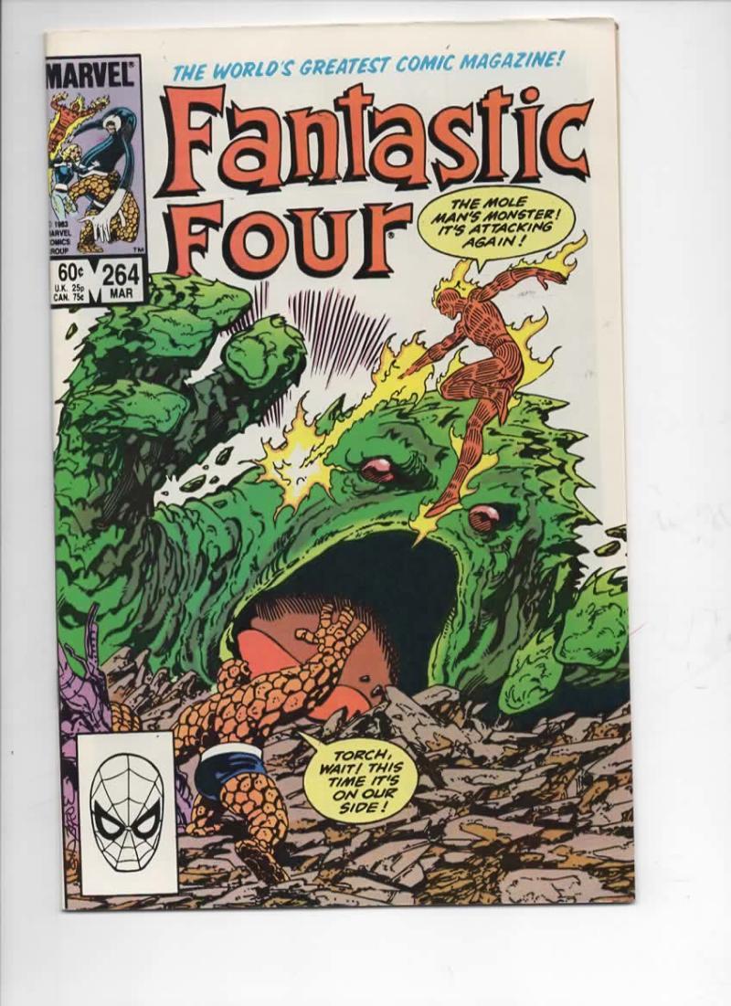FANTASTIC FOUR #264 NM- Moleman Byrne 1961 1984 Marvel, more FF in store