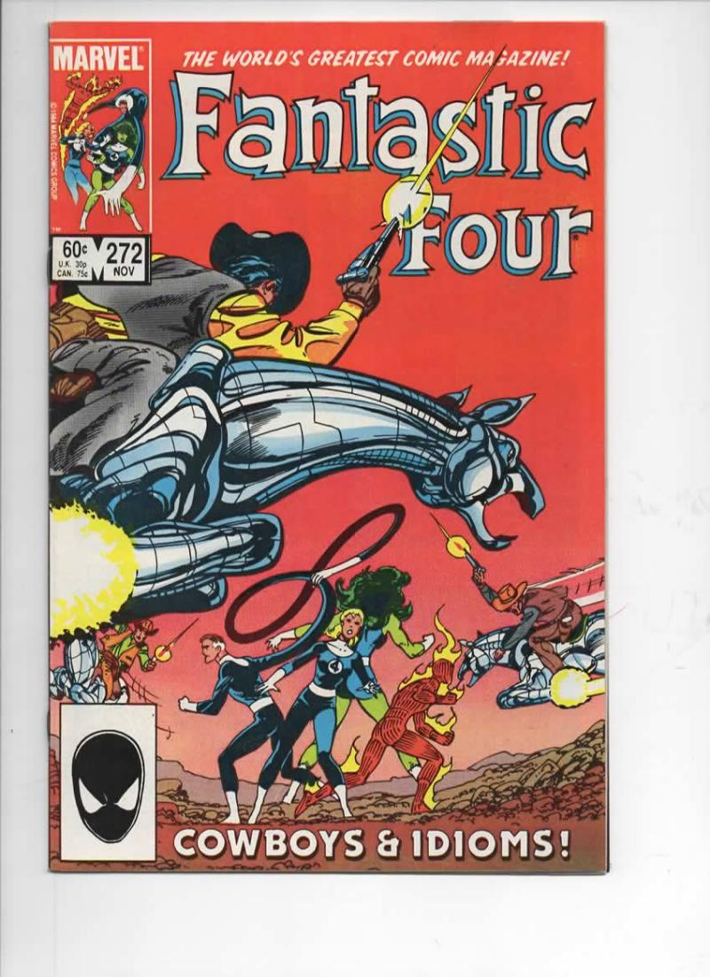 FANTASTIC FOUR #272 VF/NM Cowboys Byrne 1961 1984 Marvel, more FF in store