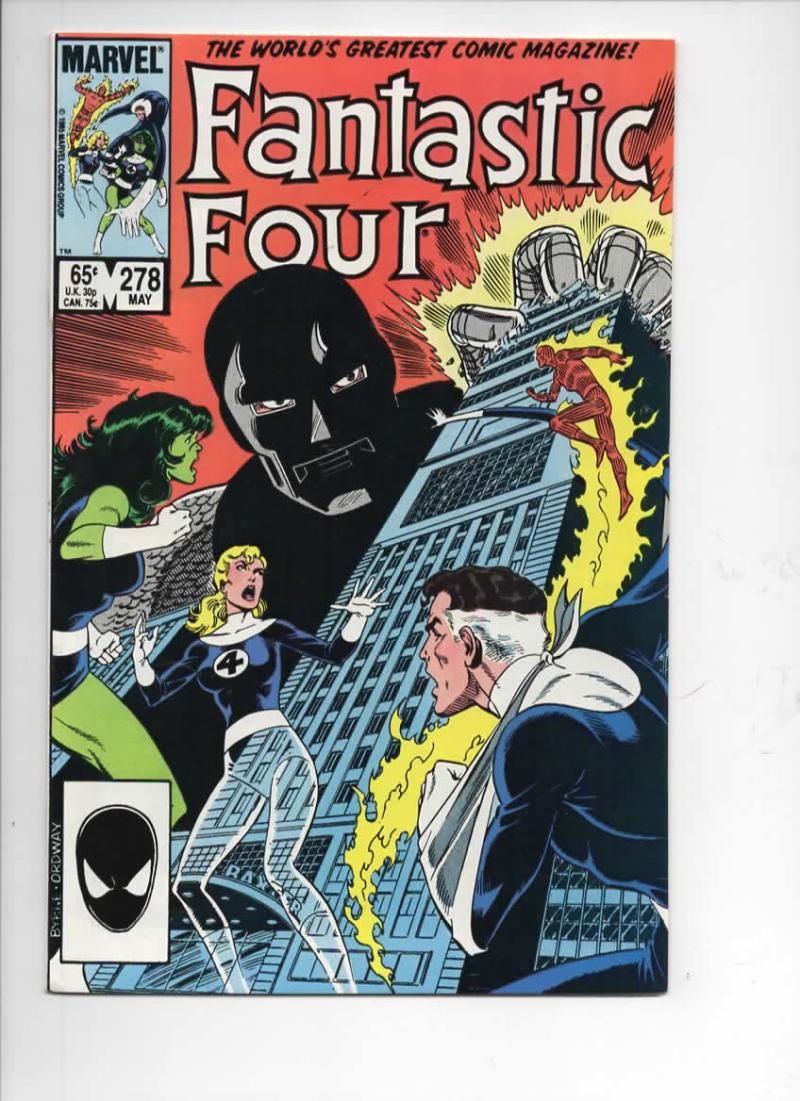 FANTASTIC FOUR #278 VF/NM Dr Doom Byrne 1961 1985 Marvel, more FF in store