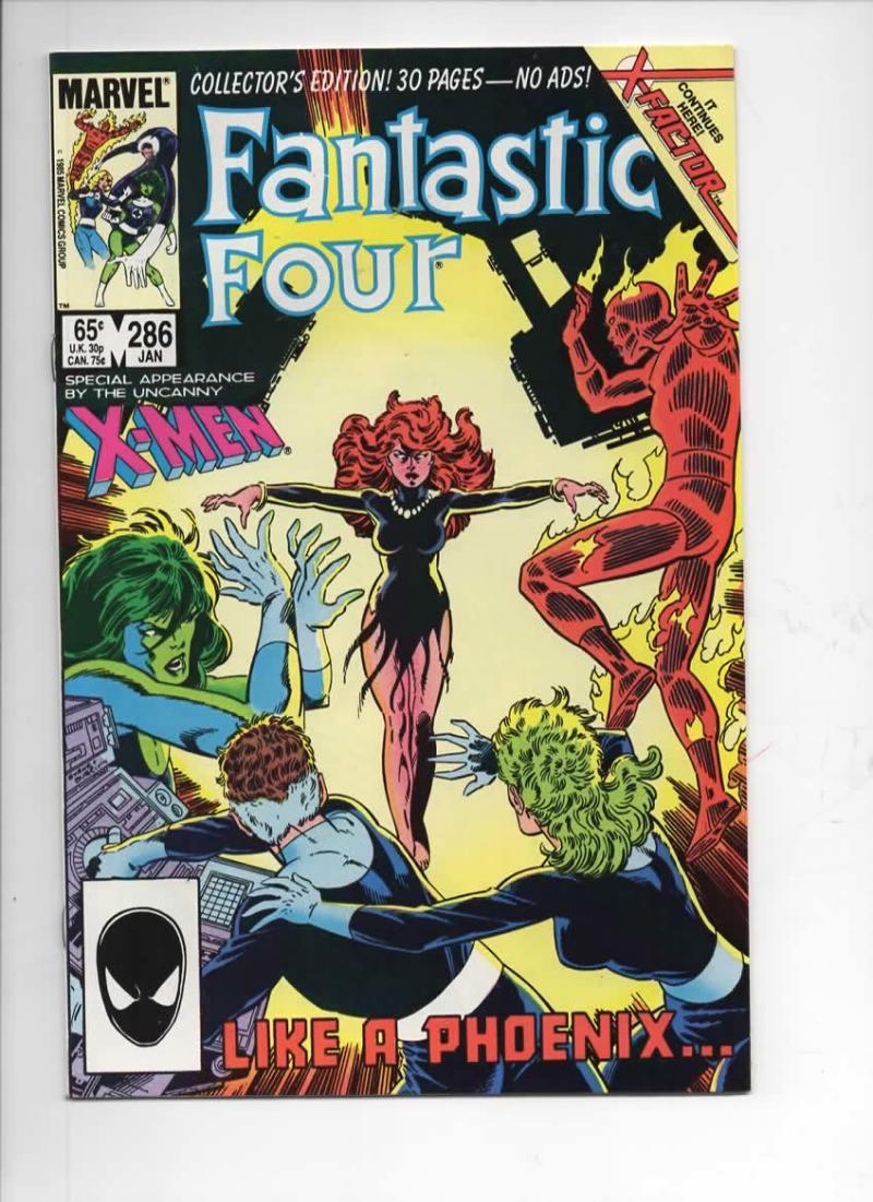 FANTASTIC FOUR #286 VF+ Jean Grey Phoenix 1961 1986 Marvel, more FF in store