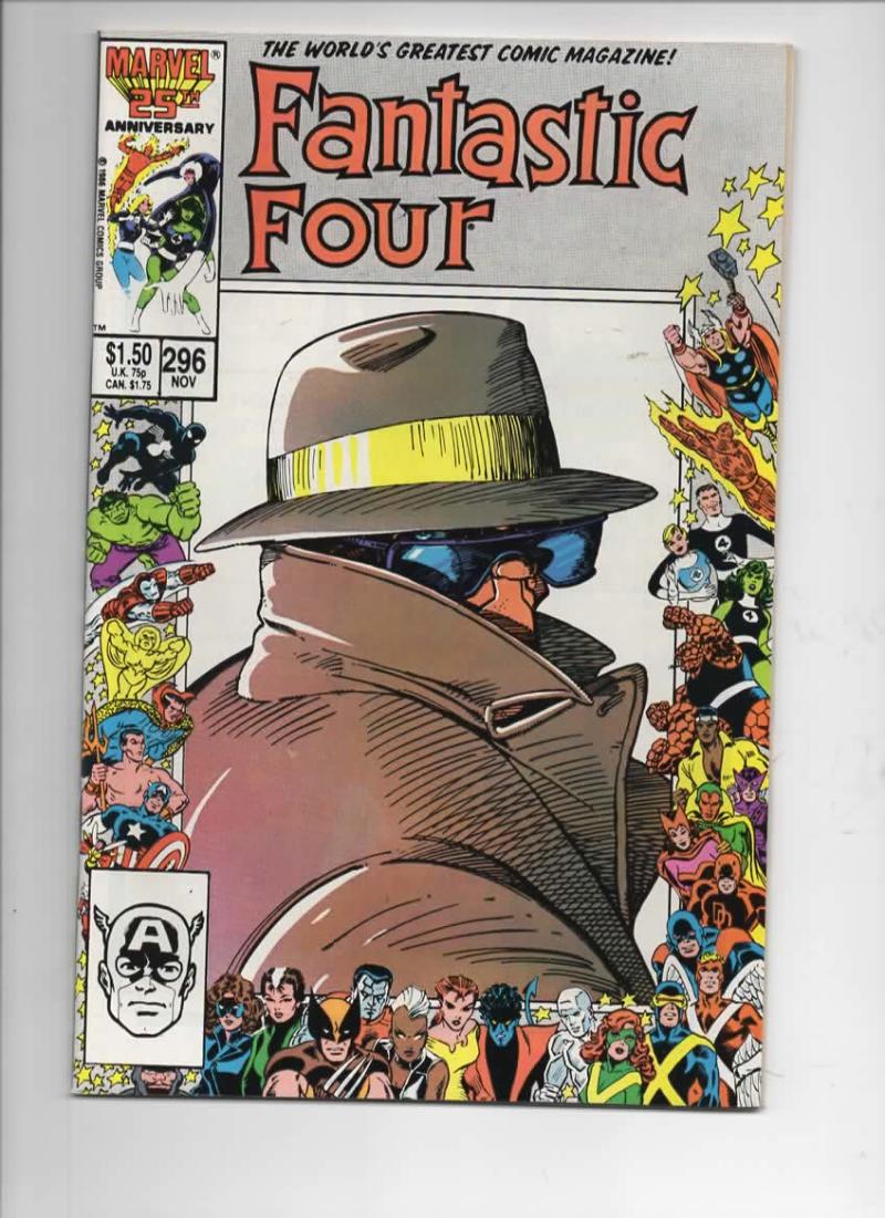 FANTASTIC FOUR #296 VF/NM Barry Smith, Thing, 1961 1986 Marvel, more FF in store
