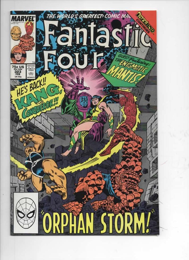 FANTASTIC FOUR #323 NM- Kang Mantis, 1961 1989 Marvel, more FF in store