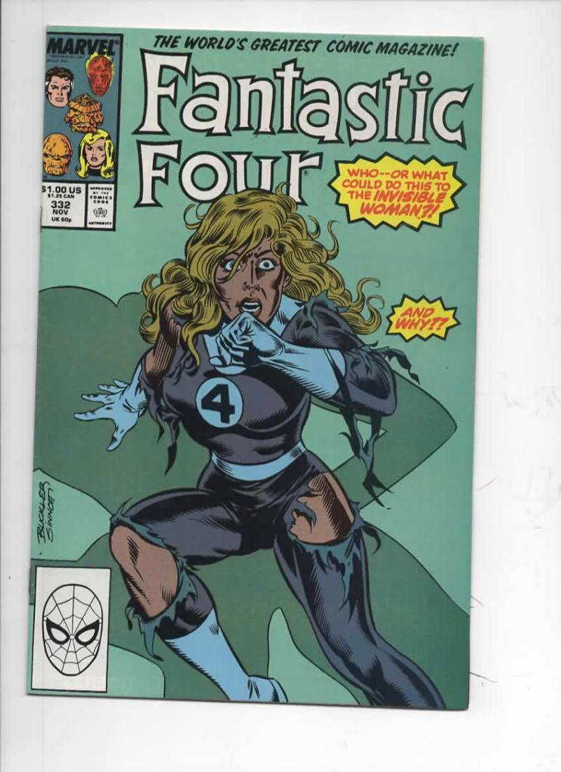 FANTASTIC FOUR #332 VF/NM Dragon Man, 1961 1989 Marvel, more FF in store
