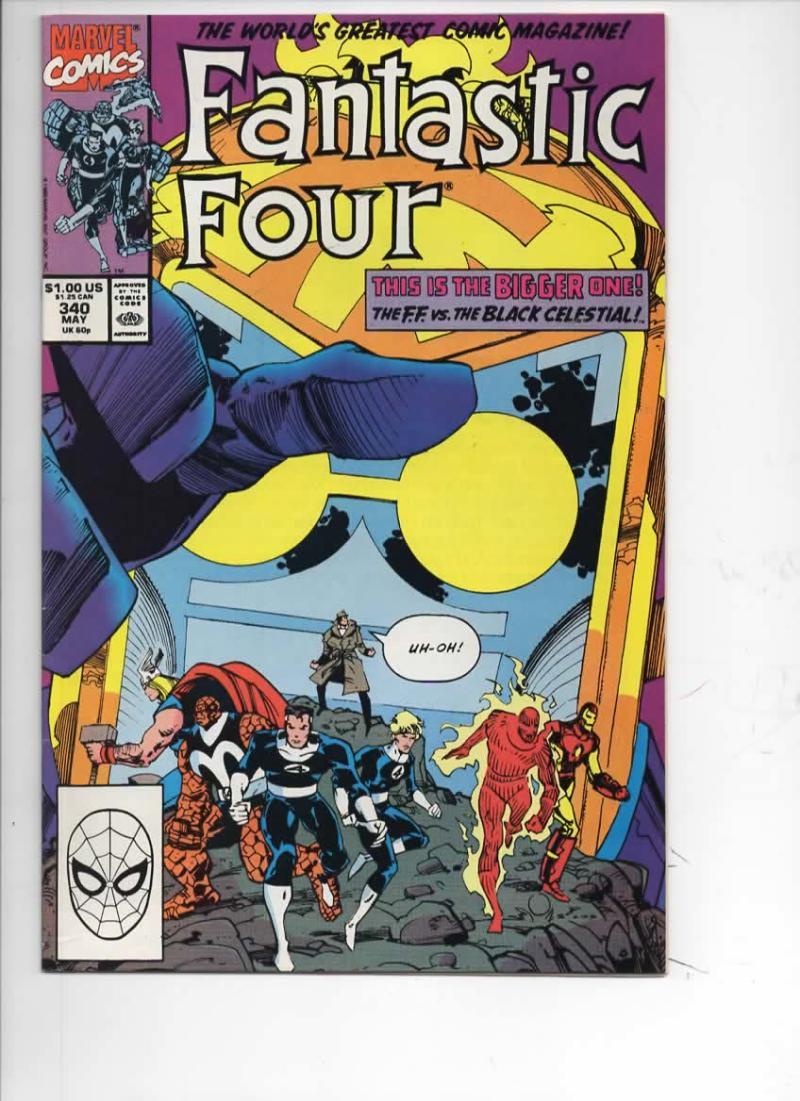 FANTASTIC FOUR #340 VF/NM Black Celestial, 1961 1990 Marvel, more FF in store
