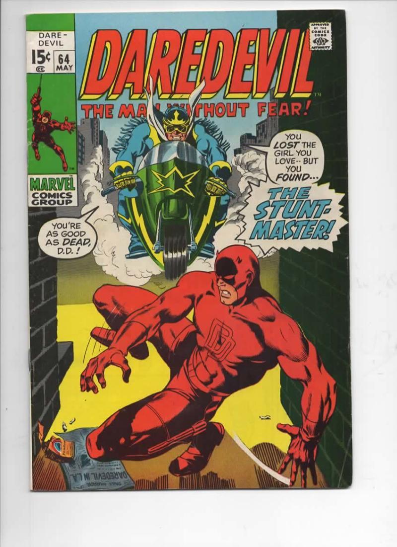 DAREDEVIL #64 FN, Gene Colan, Murdock, Stunt Master, 1964 1970, more Marvel in store