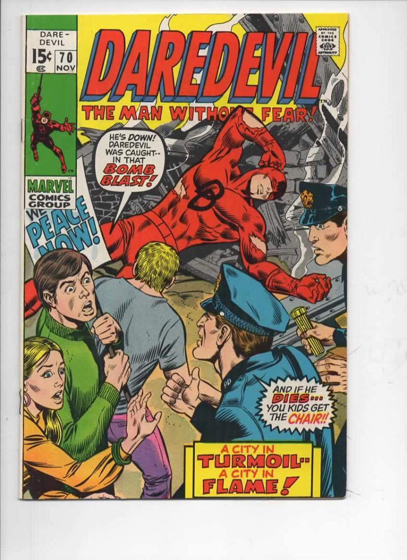 DAREDEVIL #70 FN+, Gene Colan, Murdock, Tribune, 1964 1970, more Marvel in store