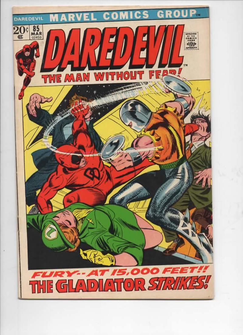 DAREDEVIL #85 FN/VF, Gene Colan, Murdock, Gladiator, 1964 1972, more Marvel in store