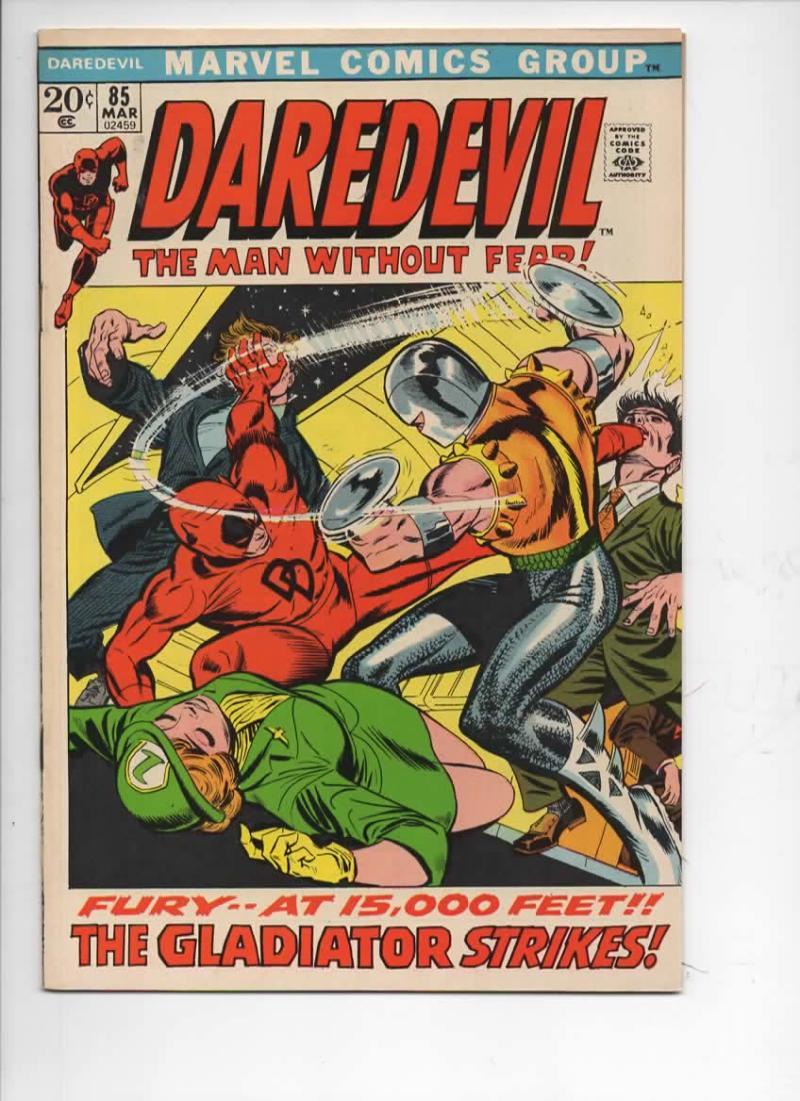 DAREDEVIL #85 VF/NM, Gene Colan, Murdock, Gladiator, 1964 1972, more Marvel in store
