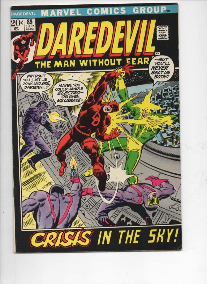 DAREDEVIL #89 FN/VF, Gene Colan, Murdock, Electro, 1964 1972, more Marvel in store