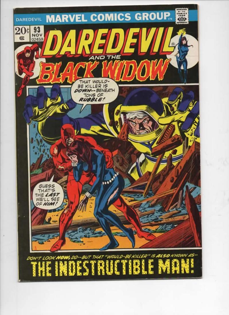 DAREDEVIL #93 FN+ Gene Colan, Murdock, Black Widow, 1964 1972, more Marvel in store
