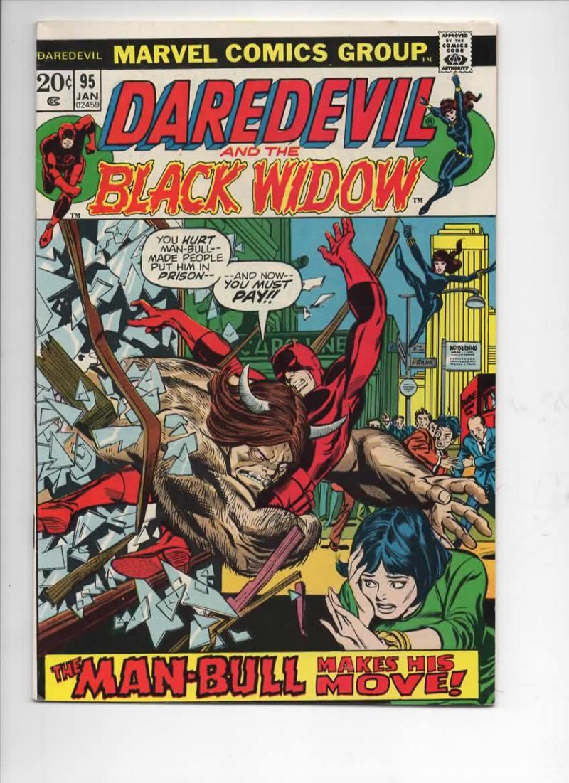 DAREDEVIL #95 FN- Gene Colan, Murdock, Black Widow, 1964 1973, more Marvel in store