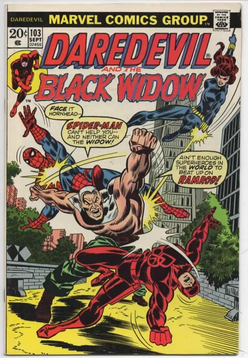 DAREDEVIL #103 FN/VF Spider-Man, Murdock, Black Widow, 1964 1973, more Marvel in store