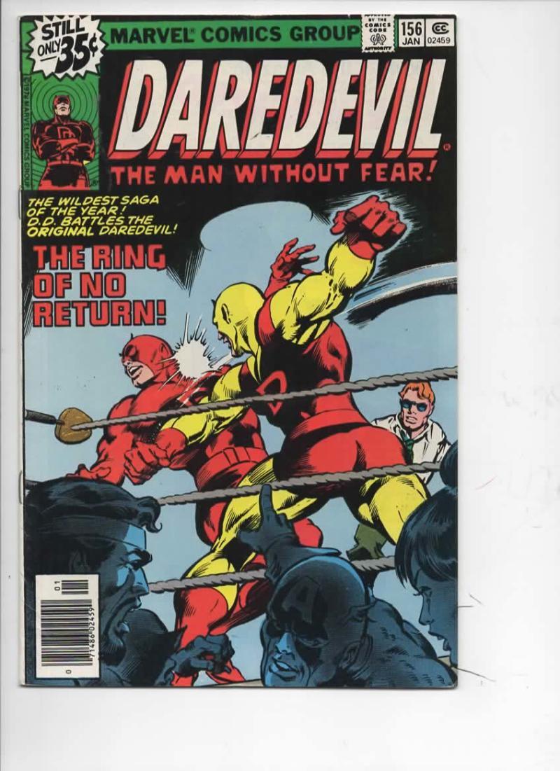 DAREDEVIL #156 FN Murdock, Black Widow, Avengers, 1964 1979, more Marvel in store