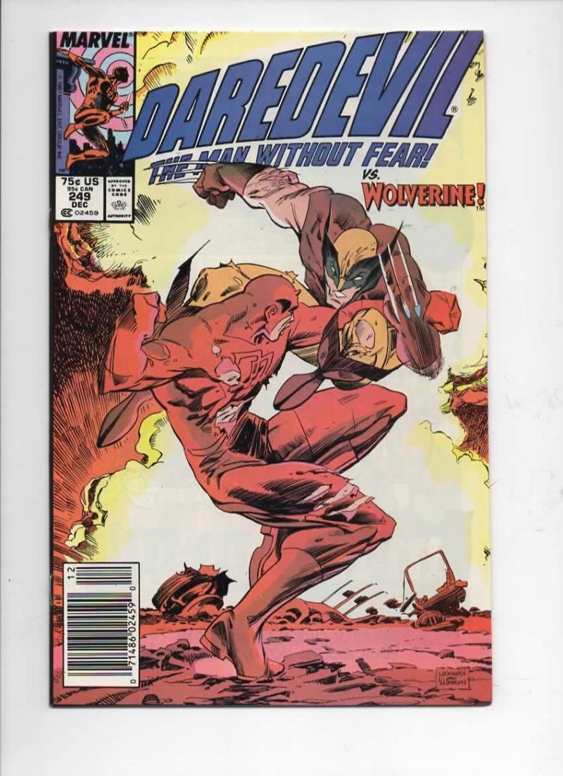 DAREDEVIL #249 NM-  Murdock, Wolverine, 1964 1987, more Marvel in store