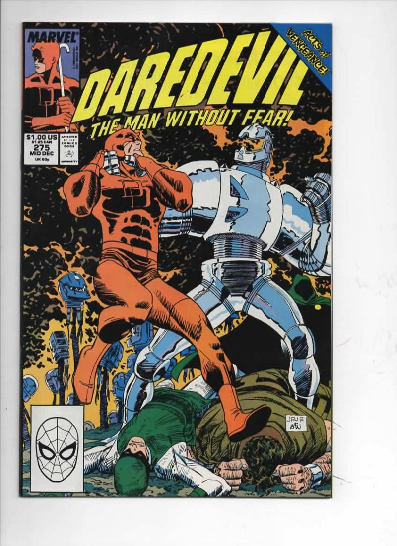 DAREDEVIL #275 VF/NM  Murdock, Man without Fear, 1964 1989, more Marvel in store, Inhumans