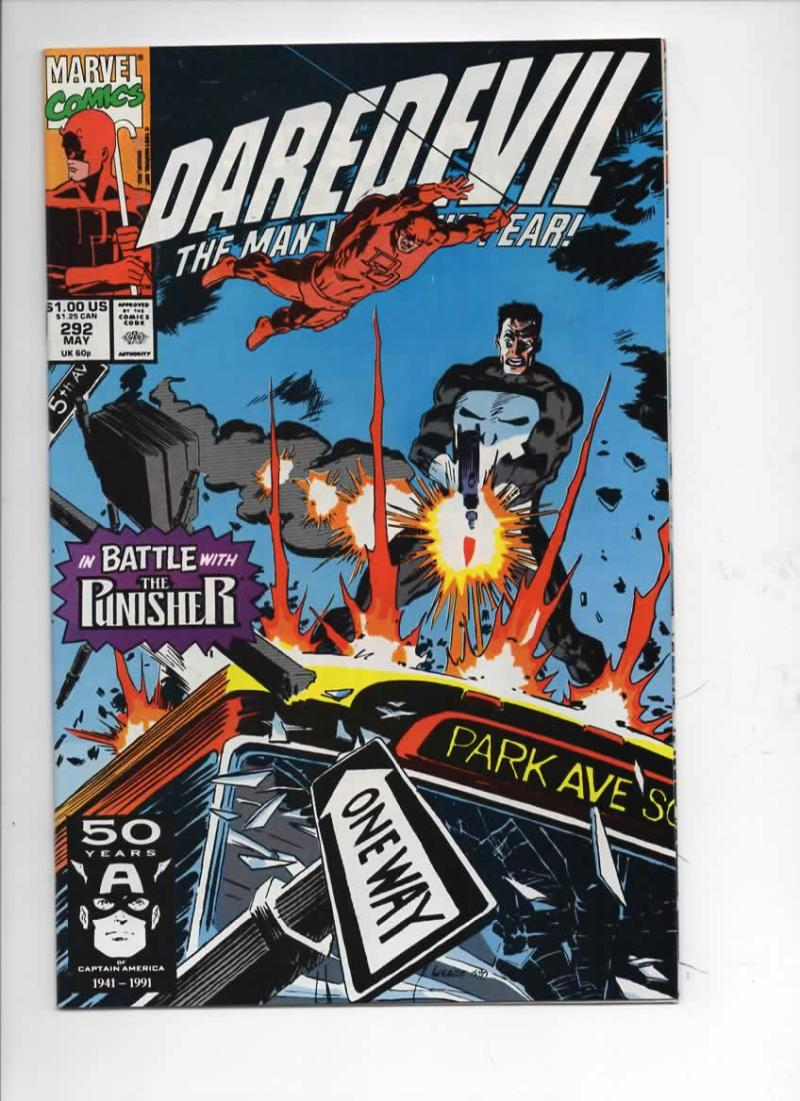 DAREDEVIL #292 NM  Punisher, Man without Fear, 1964 1991, more Marvel in store