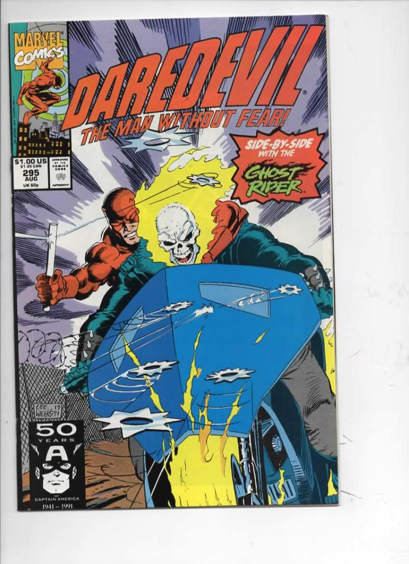DAREDEVIL #295 NM  Ghost Rider, Man without Fear, 1964 1991, more Marvel in store