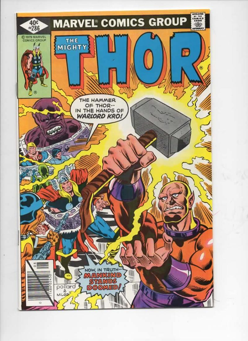 THOR #286 VF/NM God of Thunder Warlord Kro 1966 1979, more Thor in store