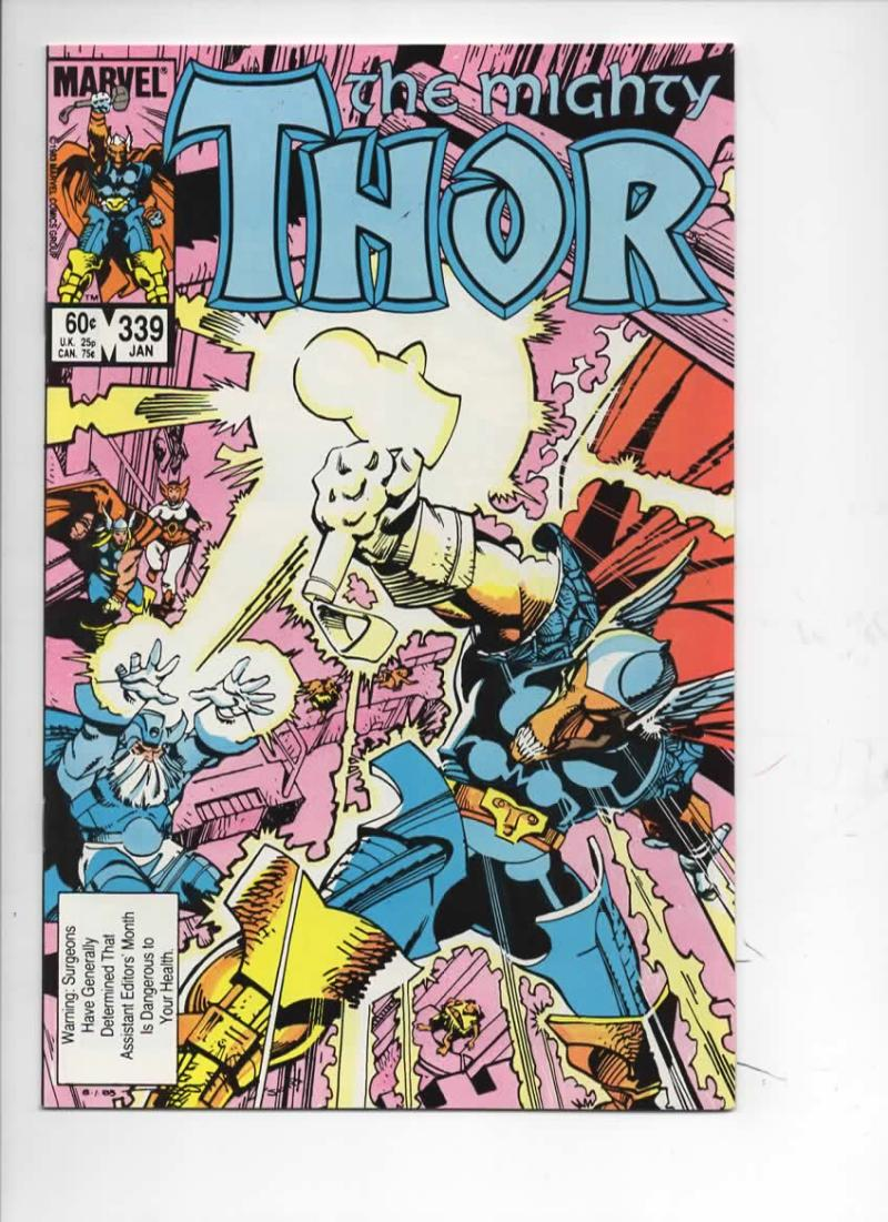 THOR #339 NM- God of Thunder Beta Ray Bill 1966 1984, more Thor in store, Marvel