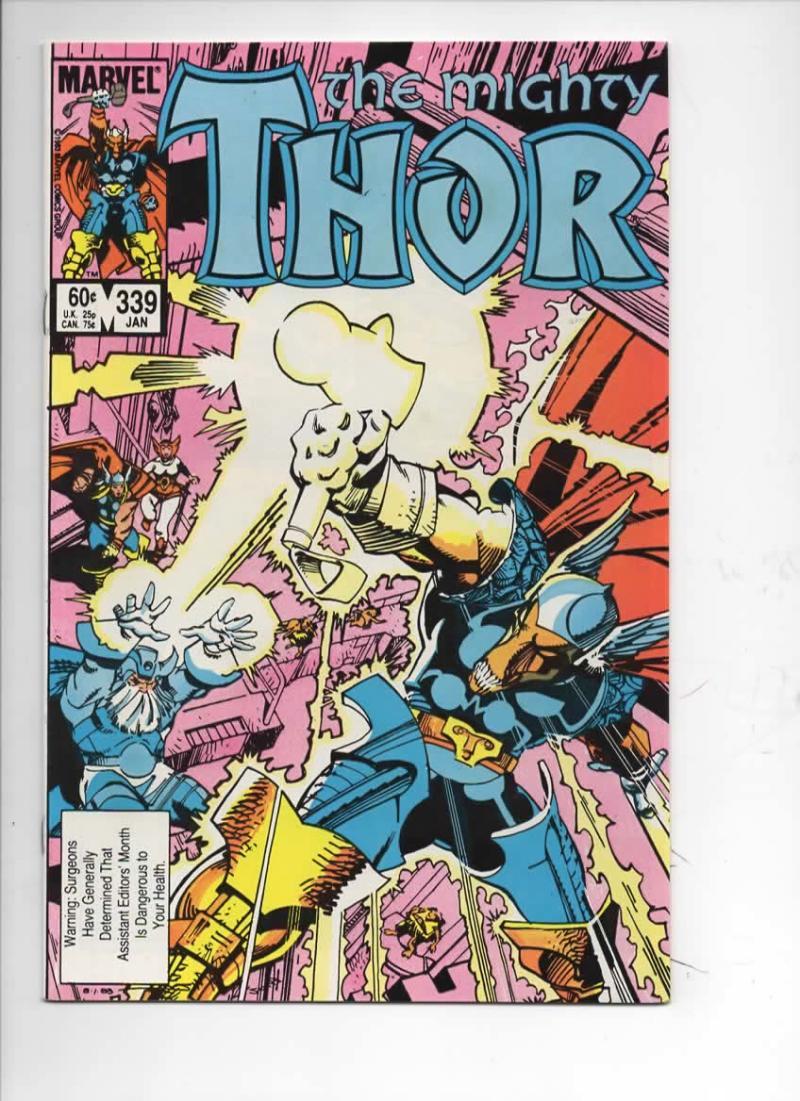 THOR #339 VF God of Thunder Beta Ray Bill 1966 1984, more Thor in store, Marvel