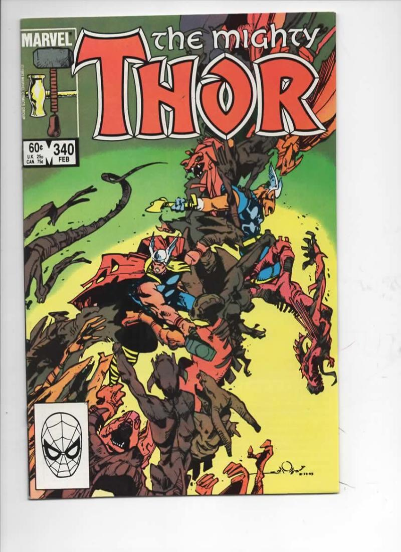 THOR #340 NM- God of Thunder Beta Ray Bill 1966 1984, more Thor in store, Marvel