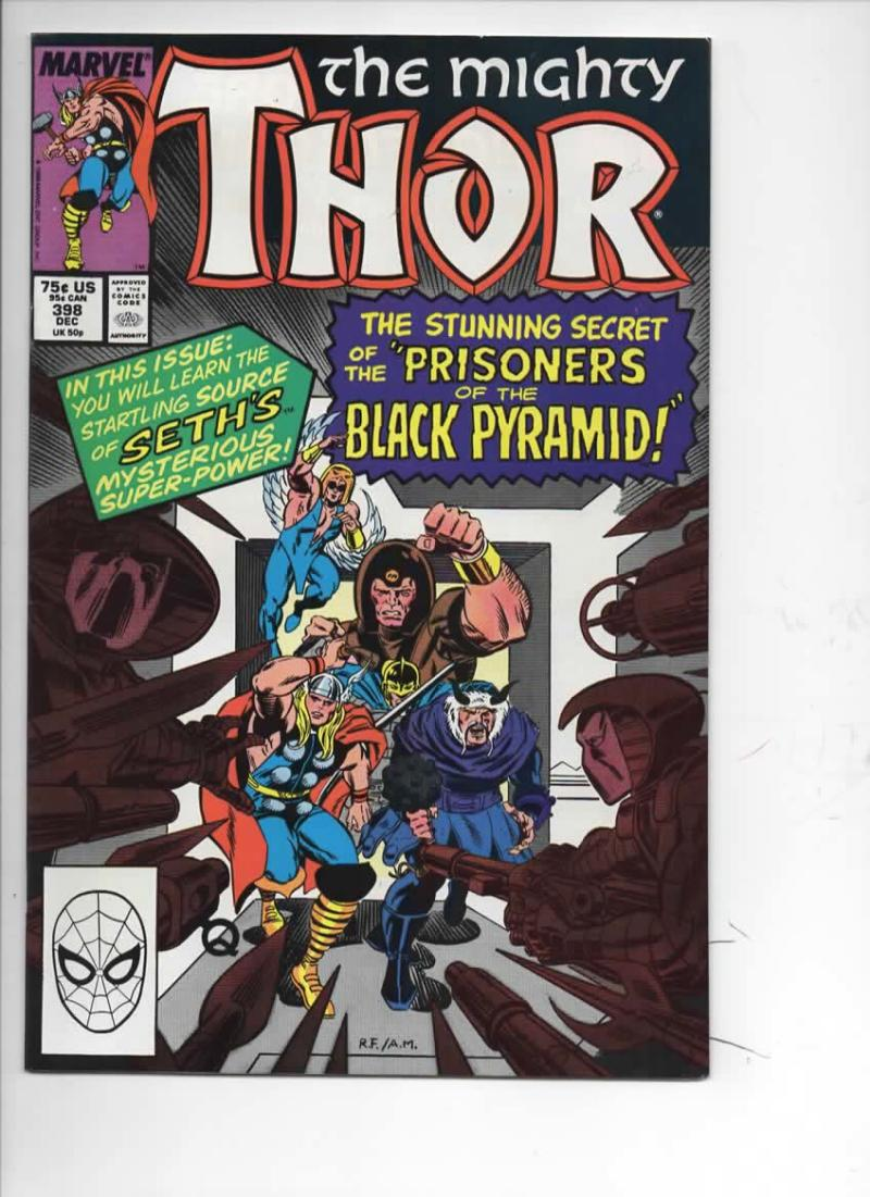 THOR #398 VF/NM God of Thunder Black Pyramid 1966 1988, more Thor in store, Marvel