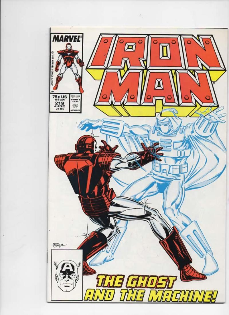 IRON MAN #219, VF/NM Tony Stark, Ghost, 1968 1987, more IM in store, Marvel