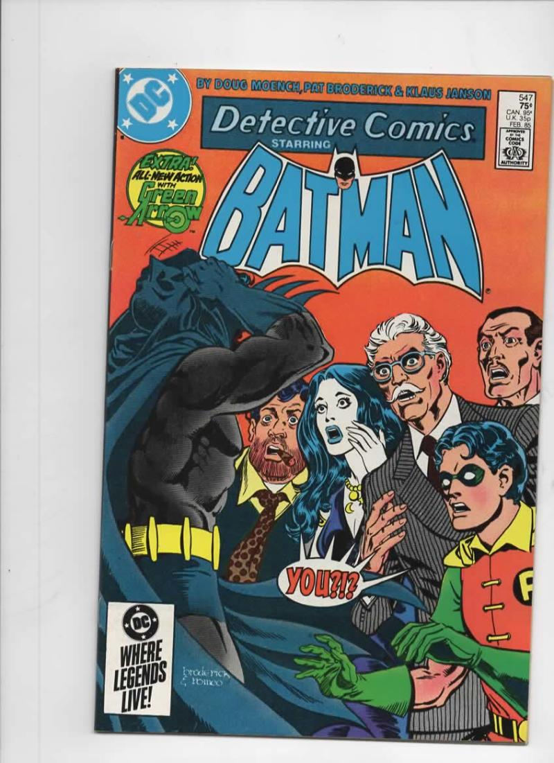 DETECTIVE COMICS #547, VF/NM, Batman, Green Arrow, 1937 1985, more in store
